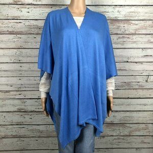 Echo Luxe Ruana Coastal Blue Wrap Sweater Cardigan